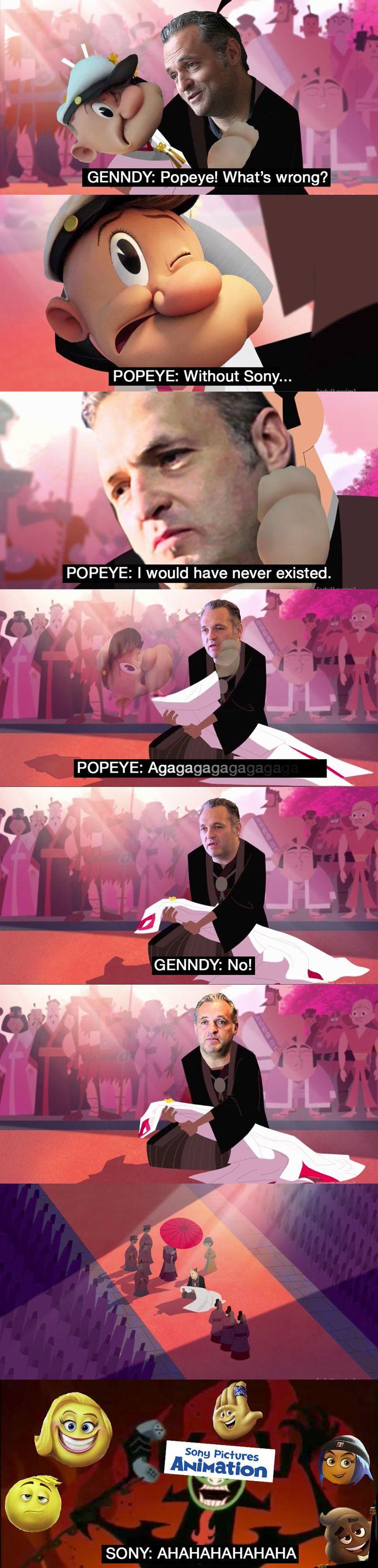RIP Popeye Movie   Samurai Jack   Know Your Meme