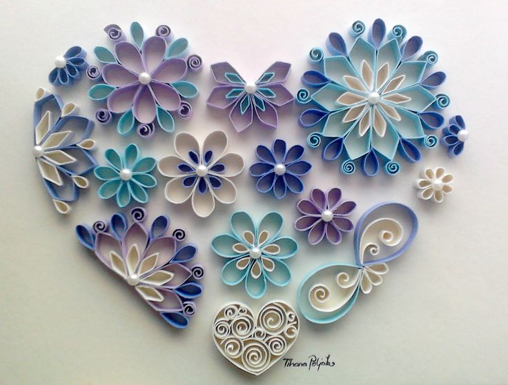 Quilled heart, gift for wedding, Quilling by Tihana Poljak