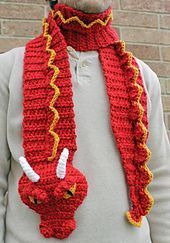 Be original (and give original gifts!) with this awesome dragon scarf! This pattern is written in US Terms. It is very detailed so even those with little crochet experience can have success creating this masterpiece. If you have any questions I would be happy to help and my email is listed on the pattern. This comes in PDF format and is 5 pages long.