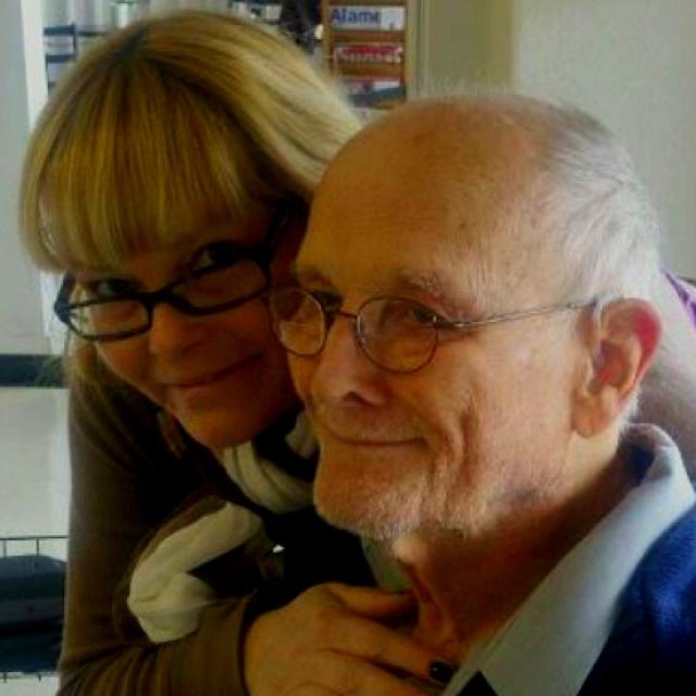 My sister Jamie (Karin) and Grampa Charlie.
