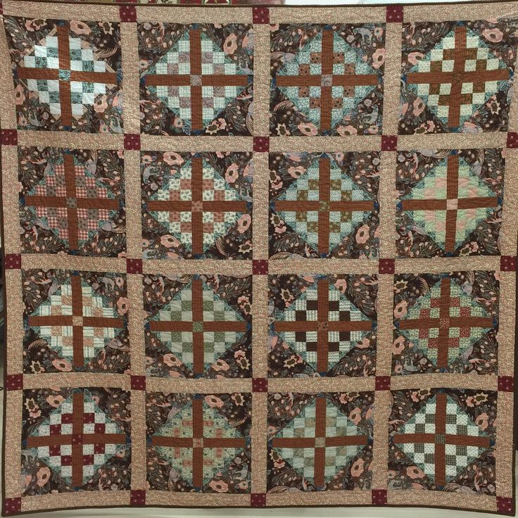 Breckinridge Quilt machine pieced, using mainly Houghton Hall fabrics from PennyRose Fabrics