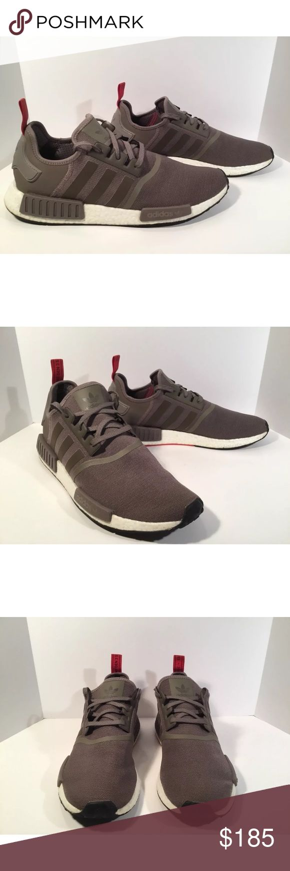 Adidas NMD R1 Texh Earth Brown Item details:   -adidas brand  -in great condition  -Men's Size 14  -brown, red and white  -boost technology  -I ship next day  -nmd R1   Please let me know if you have any questions. adidas Shoes Athletic Shoes