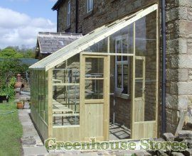 Swallow Heron Wooden Lean to Greenhouse