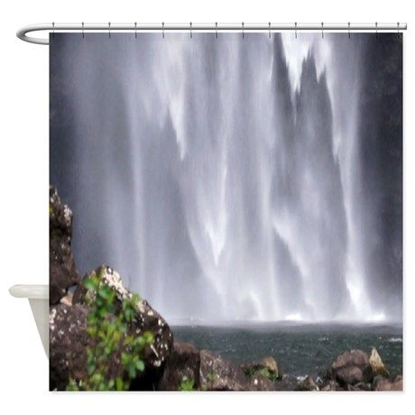 Charming Kauai Waterfall Hawaii Shower Curtain