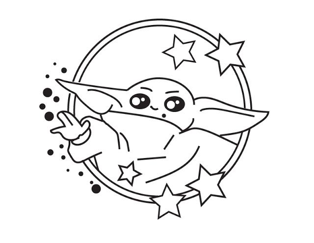 Geek Out Art Free Baby Yoda Coloring Page In 2020 Coloring Pages Free Baby Stuff Yoda Art