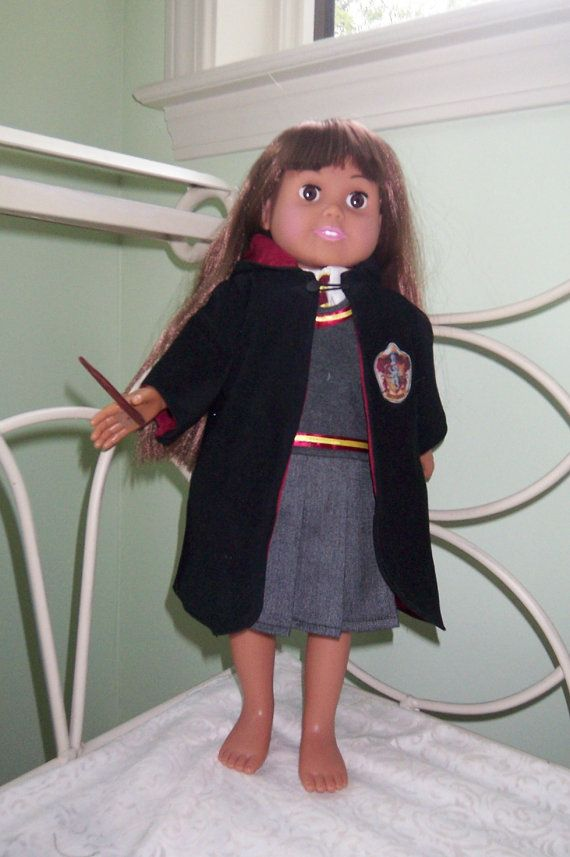 Hogwarts School Uniform Robe Badge for American Girl Doll 18