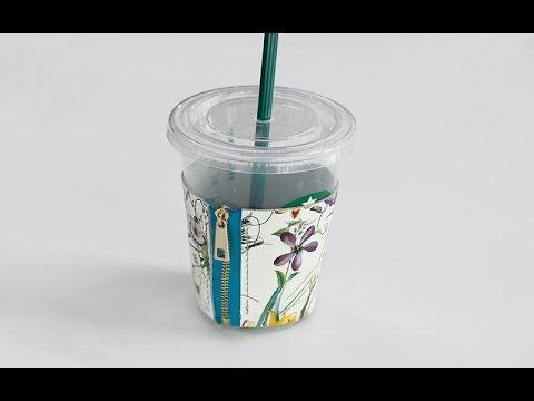 Leather D.I.Y making starbucks Cup sleeve