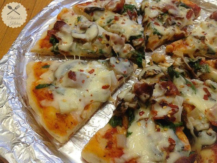 Bhawish's Kitchen : Stove Top Pizza   No Oven Pizza