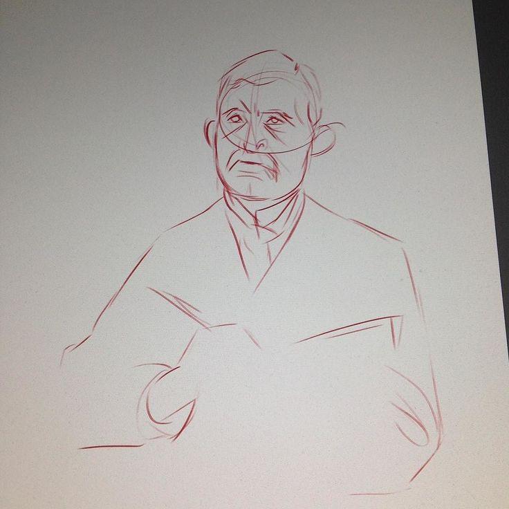 Getting to know the artist! #adobe #screamcontest #munch #edvardmunch #illustration #wip #digitalart #digitalpainting #robart #wacom #sketching instagram | art | ideas | follow