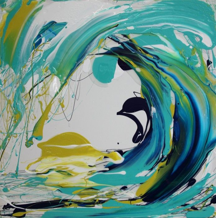 Day Break 1 by Annette Spinks Mixed Media and Resin On Canvas. $2,200 Available to buy at http://www.bluethumb.com.au/annettespinks/Artwork/Day-Break-1  #abstract #wave #resin #expressionism #australia #syla