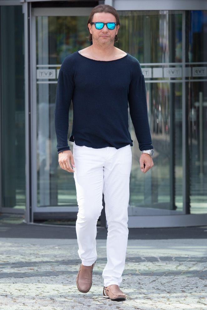 """Radosław Majdan wearing """"Evidence on Monday"""" sweater http://www.evidenceonmonday.com/sweter-z-dekoltem-56"""