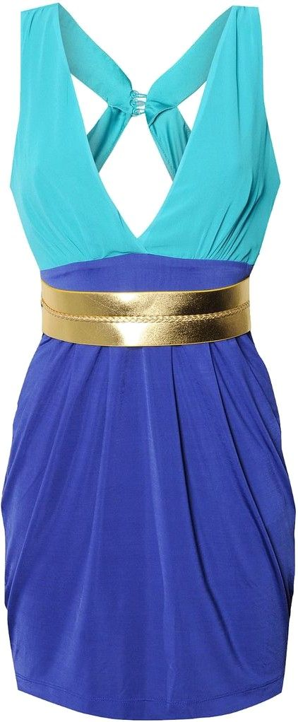 I want this!Style, Blue, Closets, Two Tone, Tone Dresses, Inner Fashionistaaa, Gold Shoes, Amazing Dresses, Lipsy Peacocks
