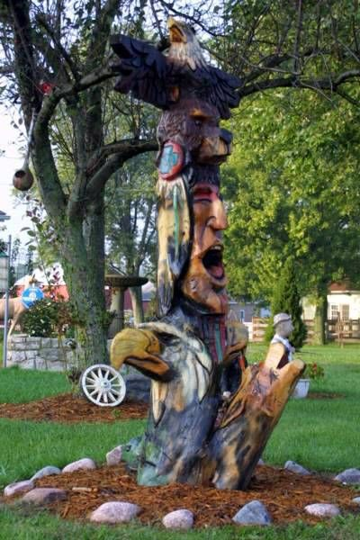 Totem Pole Wood Carving ... my Native American totem is a bear