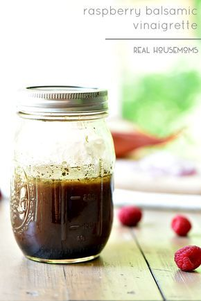 Raspberry Balsamic Vinaigrette is a simple salad dressing that is a go to for summer salads!