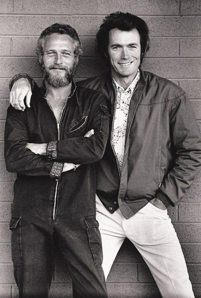 Paul Newman y Clint Eastwood ineditas