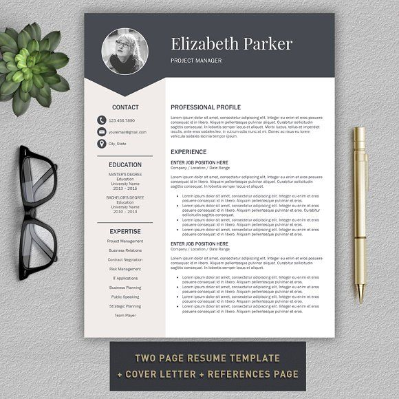 Resume Template | CV + Cover Letter by Pro.Graphic.Design on @mywpthemes_xyz