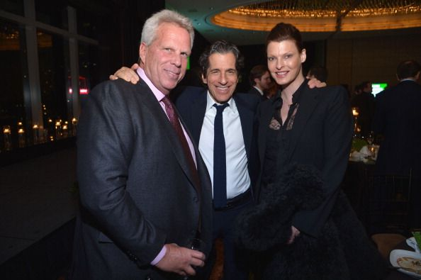 LR New York Giants chairman Steve Tisch Peter Morton and Linda Evangelista attend the 2013 Natural Resources Defense Council Game Changer Awards at...