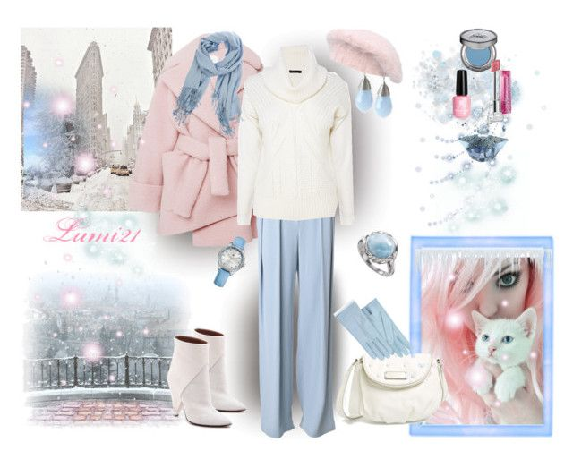 Pantone 2016 pink quarz,serenity blue by lumi-21 on Polyvore featuring Karen Millen, Carven, By Malene Birger, IRO, Marc by Marc Jacobs, Tommy Hilfiger, malo, Forzieri, Urban Decay and Thierry Mugler