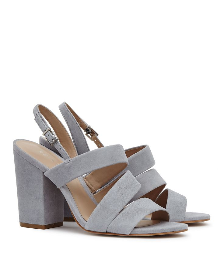 Naomi Zinc Suede Block-Heel Shoes - REISS : The naomi suede block-heel shoes in zinc plays its part in our iconic shoes collection and is available to buy online at REISS.