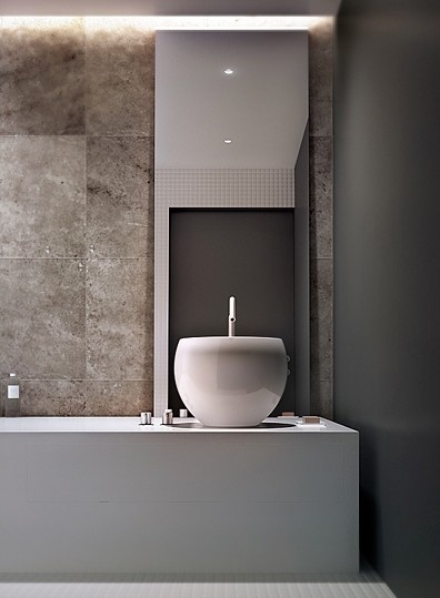 The #duravit #ciottolo won't look so bad I guess :)