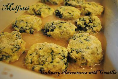 Ricotta and kale dumplings.   Culinary Adventures with Camilla: Malfatti di Ricotta e Cavolo Nero