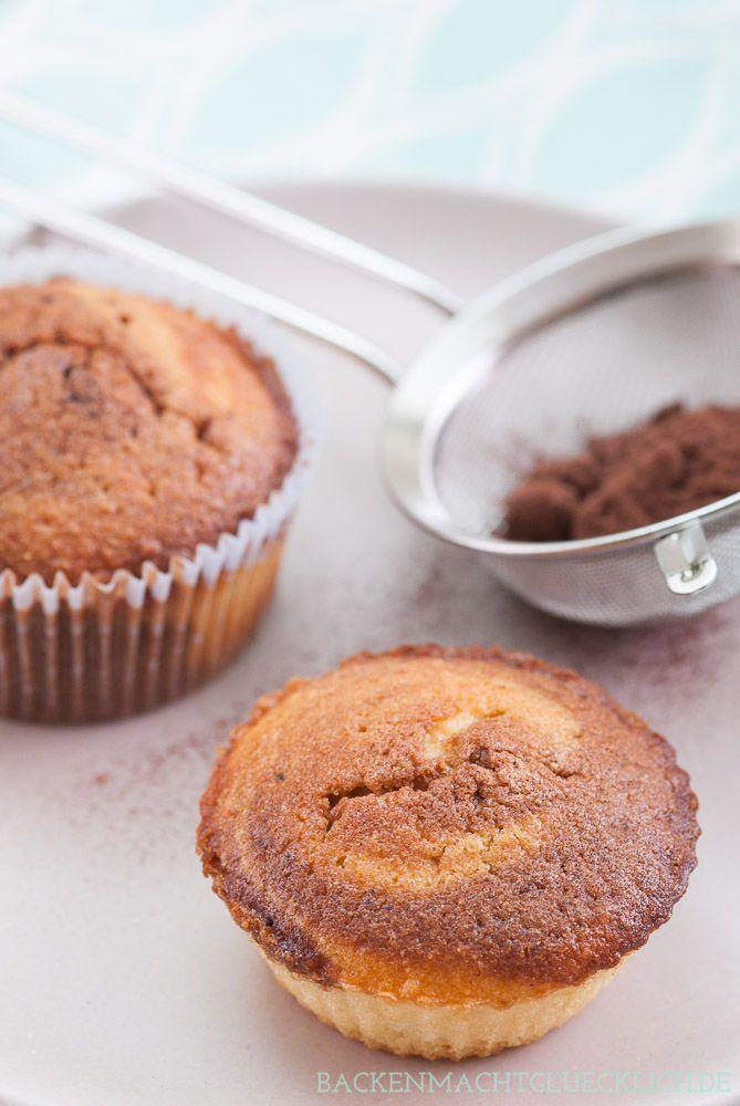 Einfaches Rezept für Marmorkuchen-Muffins   http://www.backenmachtgluecklich.de