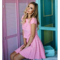 Розовый костюм с сердечками