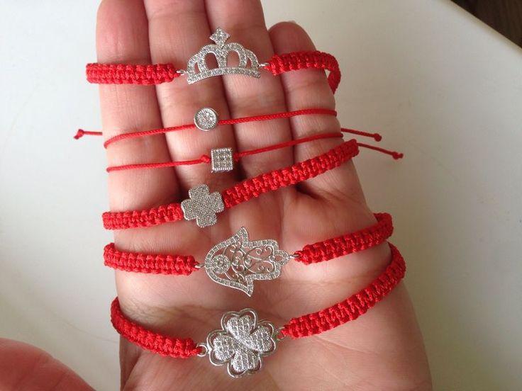 Купить Красный браслет (красная нить) - ярко-красный, красный браслет, красная нить, шамбала