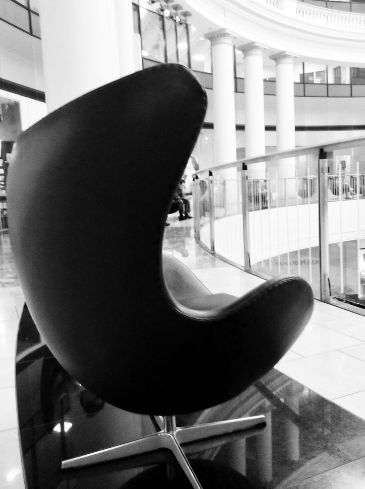 spotted jacobsen egg chair at the westfield shopping center san francisco http