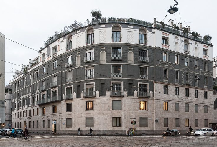 via della Moscova: Ca' Brutta (Giovanni Muzio, 1919-23