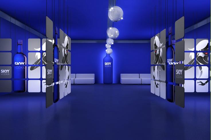 Diseño de Espacios innovadores para la empresa Sky Vodka,  Customizaciones en discotecas de España y locales de noche