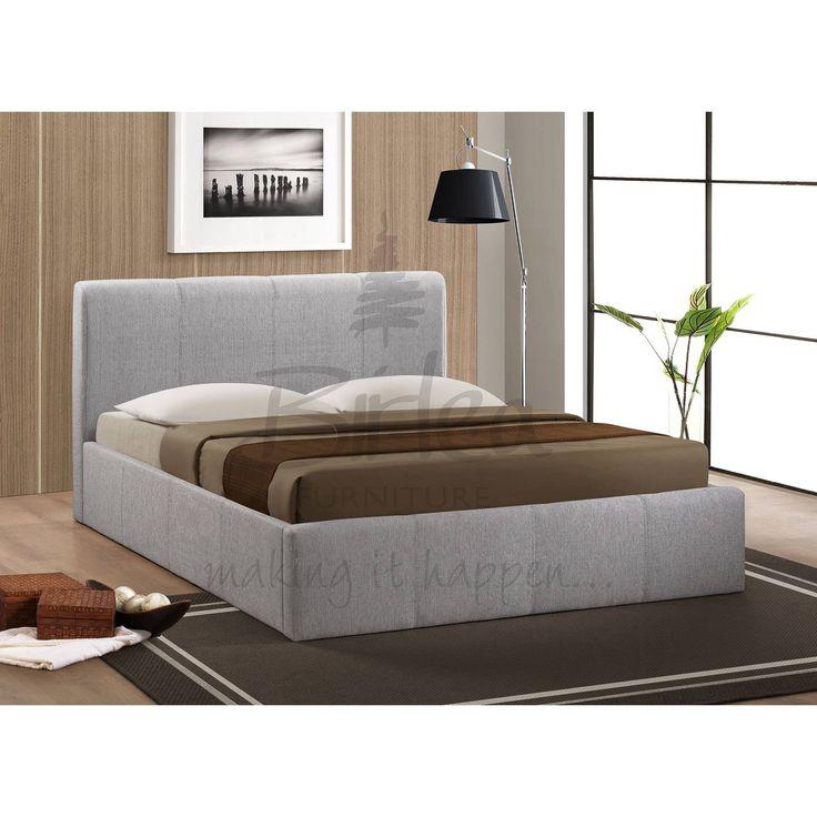 Birlea Brooklyn Grey Ottoman 150cm King Size Bed Frame