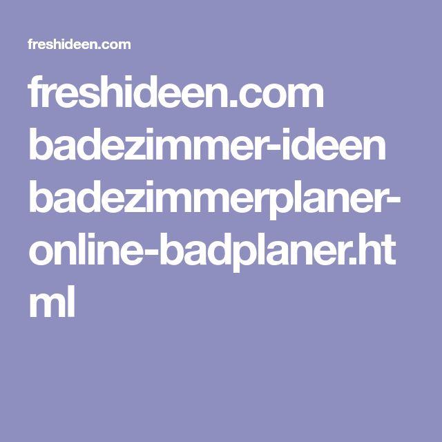 Die besten 25+ Badplaner online Ideen auf Pinterest | Badplaner ...