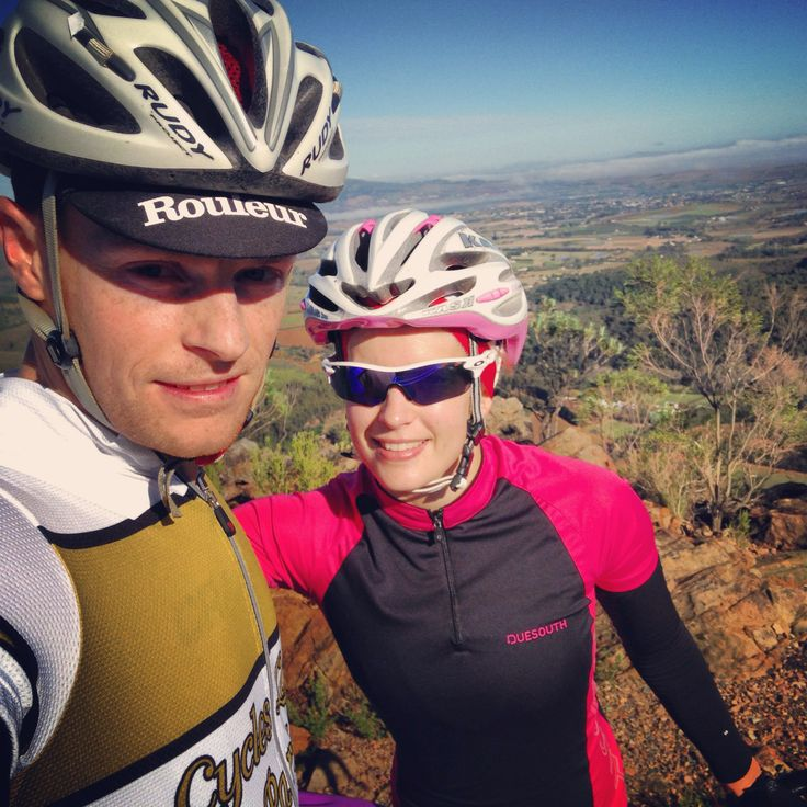 My A and I at the top of the Bains Kloof pass
