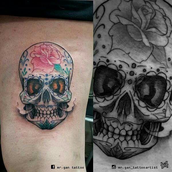 #calavera #calaveramexicana #calaveratattoo #mexicanskull #tattooed #tattoo #ink #inked #tattooedgirls #teschio #teschiomessicano
