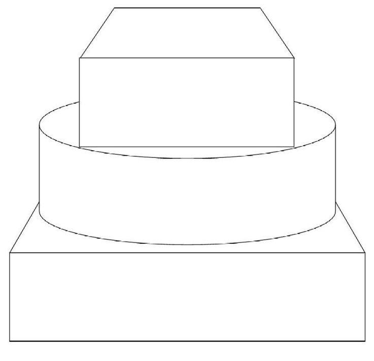 wedding cake drawing template 39838 loadtve