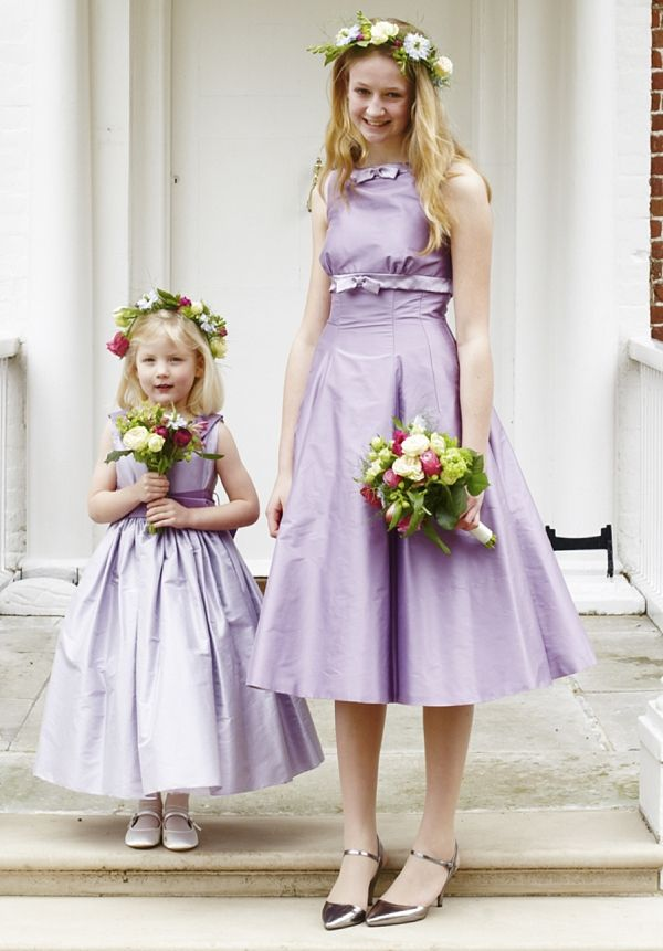 Nicki macfarlane classic designs for your bridesmaids for Cream and purple wedding dresses