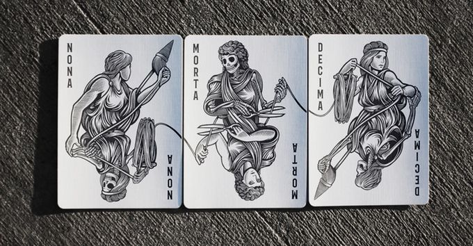 Moirai Playing Cards by Stewart West — Kickstarter. The three Jokers in this deck.