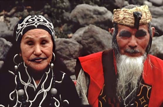 Ainu couple. The Ainu language.  For more information, see http://en.wikipedia.org/wiki/Ainu_language