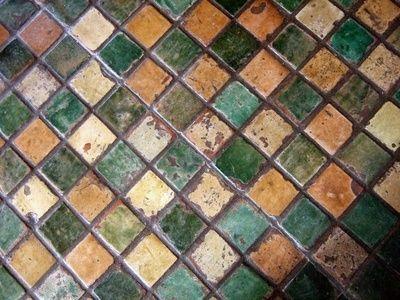 Paint tile, using random colors - beautiful! ... http://www.bathroom-paint.net/painting-bathroom-tiles.php
