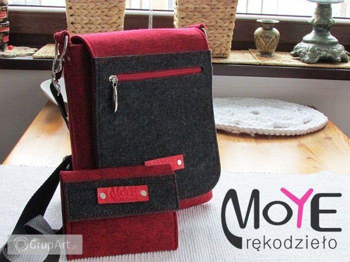 Grupart.pl - torebka z filcu - listonoszka - Torebki - Na ramię