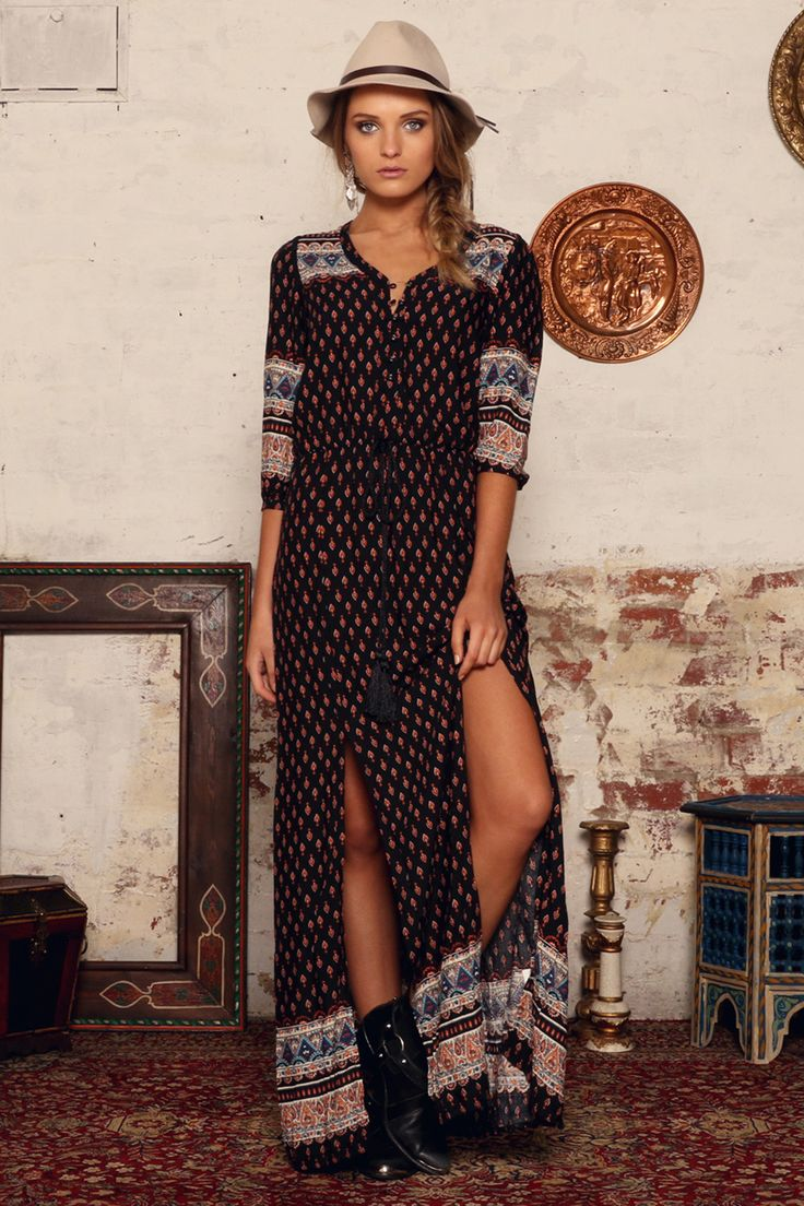 Island Boho Maxi Dress