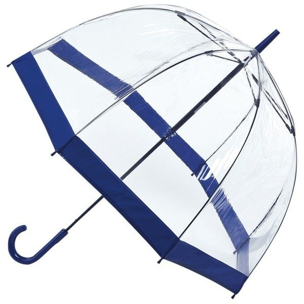 Fulton Birdcage Domed Umbrella , Blue (£18) ❤ liked on Polyvore featuring accessories, umbrellas, paraguas, blue, blue umbrella, transparent umbrella, see through umbrella, dome shaped umbrella and fulton umbrella