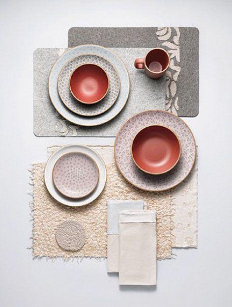 Alabama Chanin collaboration with Heath Ceramics. Textiles and ceramics: a perfect combination!
