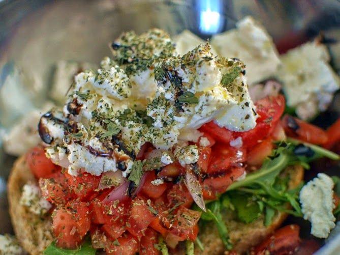 Dakos (Cretan Rusks) Salad