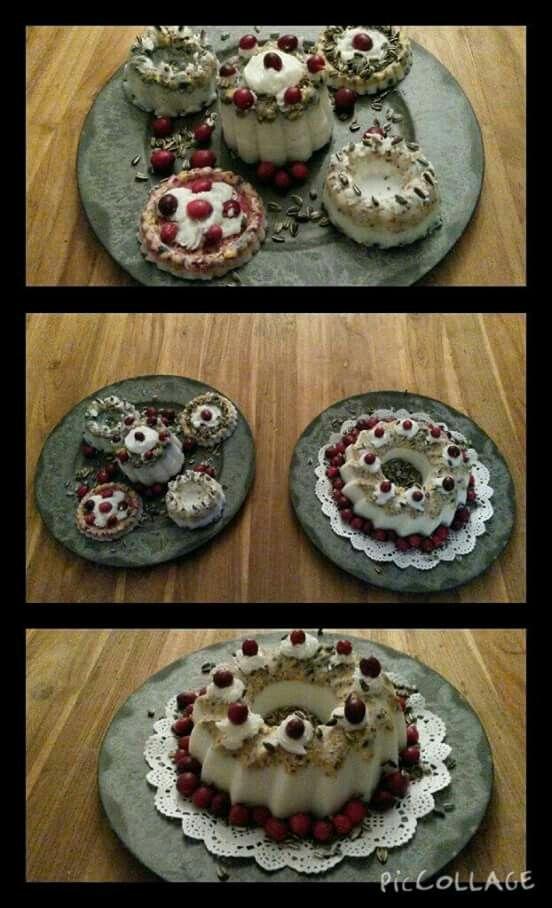 Homemade bird cakes