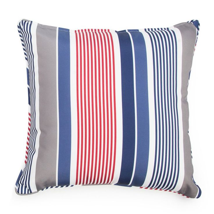 Set of 2 Coral Coast Classic 20 x 20 in. Outdoor Toss Pillows - Americana Stripe - M015-1-PC118-AMERICANA STRIPE