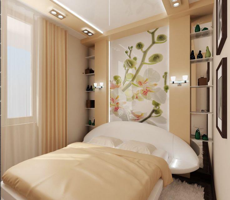 Дизайн спальни 12 кв м: отделка в стиле модерн с диваном и подиумом для взрослых