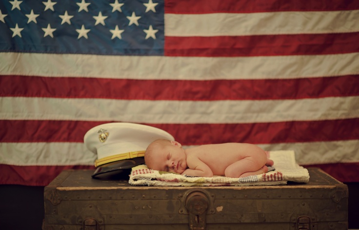 Military Newborn Session Marine Corps Newborn Photography