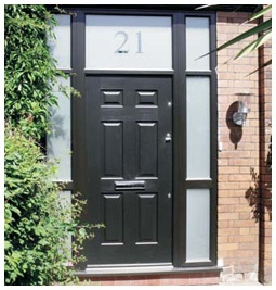 Black composite door and Frame from Solidor @SolidorLtd
